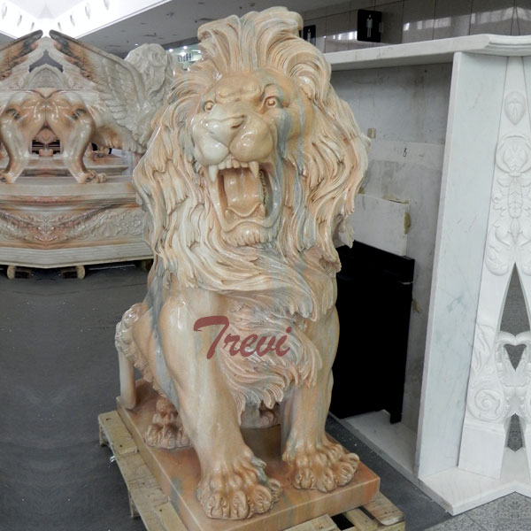 Antique Lion Statues Garden Animals for Sale Guarding Entrance