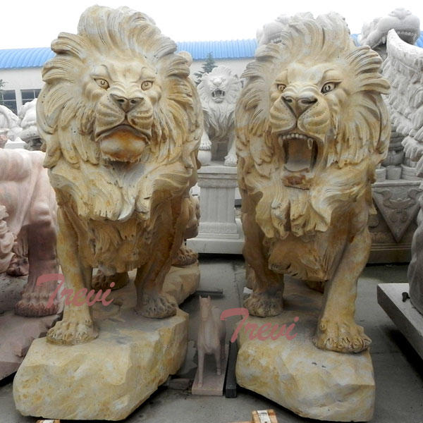 Lion Statue Meaning Ornamental Yard Decorations for Outside